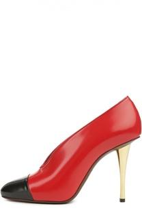Кожаные туфли на шпильке Lanvin