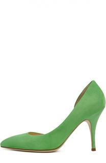 Замшевые туфли на шпильке Duccio Venturi Bottier