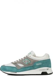 Комбинированные кроссовки на широкой подошве New Balance