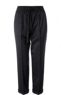 Шерстяные укороченные брюки-дудочки Kiton