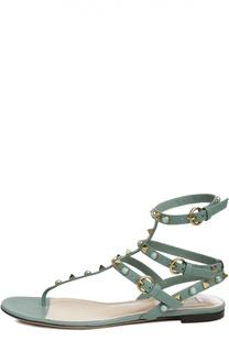 Кожаные сандалии Rockstud Rolling с ремешками Valentino
