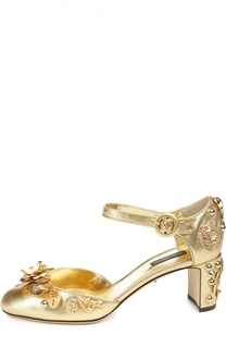 Кожаные туфли Vally с декором Dolce & Gabbana