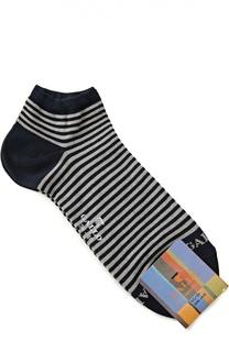 Хлопковые укороченные носки в полоску Gallo