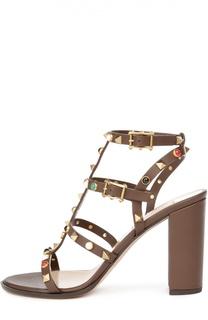 Босоножки Rockstud Rolling на устойчивом каблуке Valentino