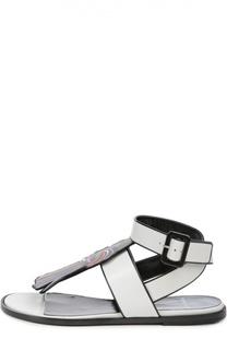 Кожаные сандалии с аппликацией Pierre Hardy
