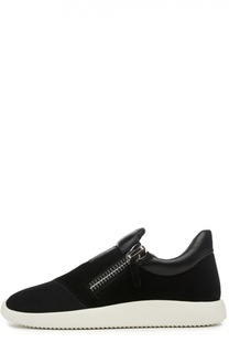 Комбинированные кроссовки с боковыми молниями Giuseppe Zanotti Design