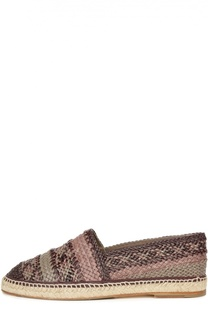 Эспадрильи Tremiti из кожи с мелким плетением Dolce & Gabbana