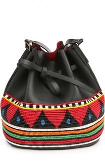 Сумка Daliah Bucket Africa с вышивкой бисером Les petits joueurs