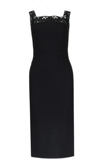 Платье-футляр с ажурными бретельками Dolce & Gabbana