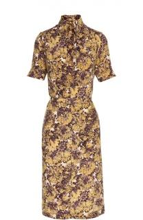 Платье с поясом Rochas
