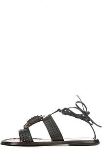 Кожаные сандалии Animals с декором Valentino
