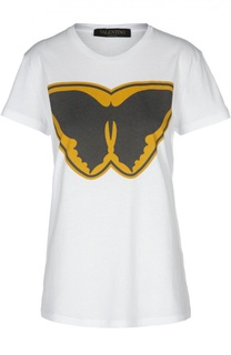 Хлопковая футболка с принтом Super Hero Valentino