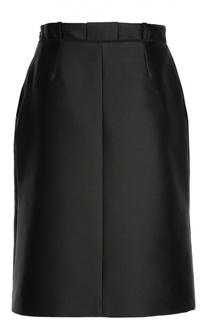 Юбка-миди с карманами и высоким разрезом Carven