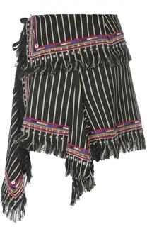 Асимметричная мини-юбка с контрастной отделкой Isabel Marant
