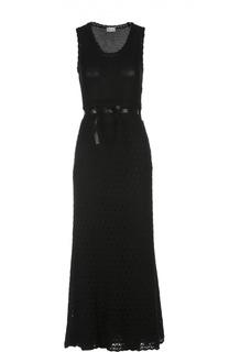 Вязаное платье-макси без рукавов REDVALENTINO