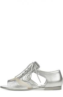 Ботинки с открытым мысом на шнуровке Givenchy