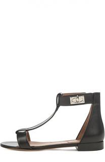 Кожаные сандалии Shark Lock Givenchy