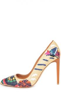 Плетеные туфли Celia с вышивкой Ralph Lauren