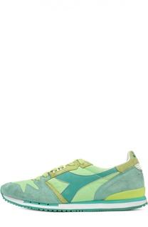 Кожаные кроссовки со вставками Diadora Heritage