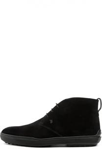 Замшевые ботинки GOMMA XF Tod's