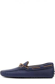 Кожаные топсайдеры с контрастным шнурком Tod's