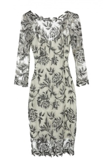 Приталенное кружевное платье с круглым вырезом Tadashi Shoji
