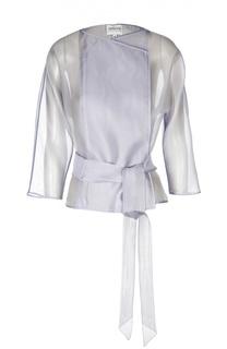 Шелковый прозрачный жакет-кимоно Armani Collezioni