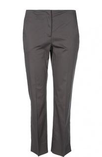 Хлопковые прямые брюки со стрелками Armani Collezioni