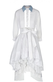 Платье-рубашка с кружевным поясом и пышной юбкой Natasha Zinko