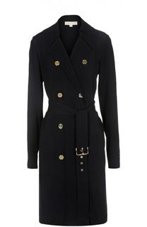 Удлиненное двубортное пальто с ремнем Michael Michael Kors