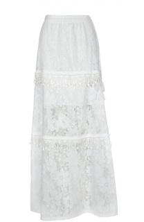 Кружевная юбка-макси с декоративной отделкой Elie Tahari