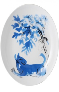 Блюдо овальное LAnimal Vert Collection Marc Chagall Bernardaud