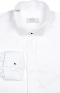 Сорочка с воротником бабочка и манжетами под запонки Eton
