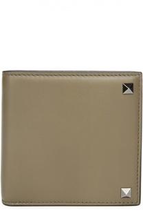 Кожаное портмоне с металлическими шипами Valentino