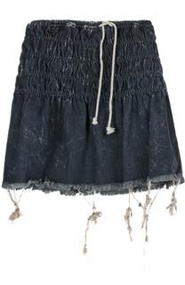 Джинсовая мини-юбка с необработанным краем Chloé