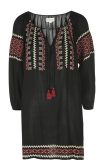 Мини-платье с контрастной вышивкой и круглым вырезом Denim&Supply by Ralph Lauren