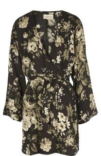 Жакет-кимоно с поясом и цветочным принтом Denim&Supply by Ralph Lauren