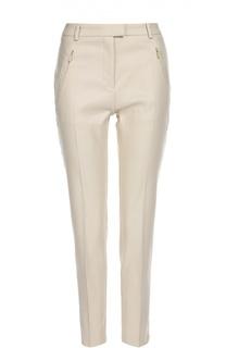 Укороченные брюки со стрелками и карманами на молниях BOSS
