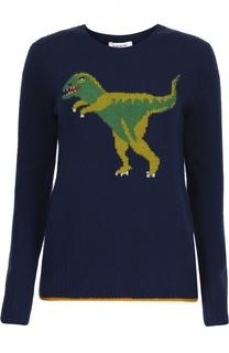 Кашемировый пуловер с контрастным принтом Coach