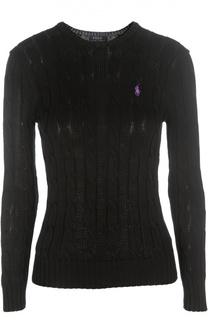 Пуловер фактурной вязки с круглым вырезом Polo Ralph Lauren