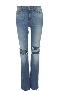 Расклешенные джинсы с потертостями 7 For All Mankind