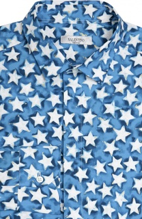Хлопковая рубашка с принтом Valentino