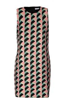 Прямое мини-платье с ярким принтом REDVALENTINO