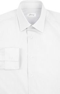 Хлопковая сорочка с итальянским воротником Brioni