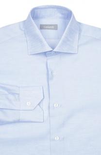 Меланжевая сорочка с воротником акула Cantarelli