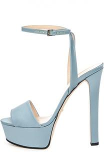 Атласные босоножки Leila на платформе Gucci