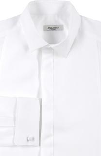 Сорочка с закрытой планкой и манжетами под запонки Valentino
