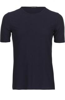 Хлопковая футболка с круглым вырезом Roberto Collina
