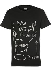 Хлопковая футболка с принтом Elevenparis