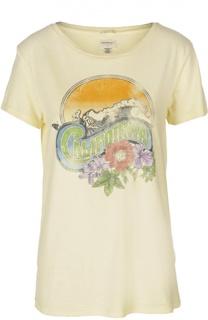 Прямая футболка с круглым вырезом и принтом Denim&Supply by Ralph Lauren